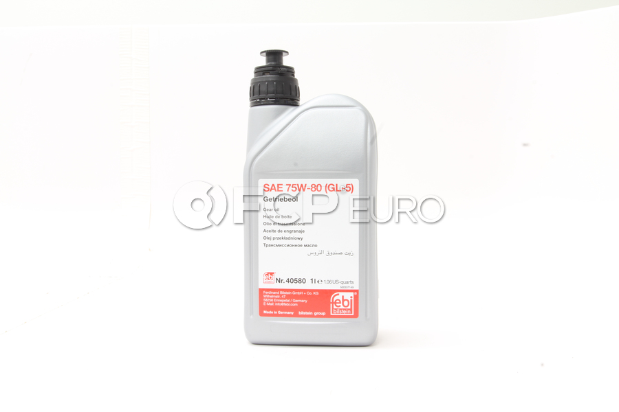 75W80 Manual Transmission Fluid (1 Liter) - Febi 40580