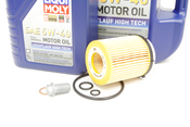 Mercedes Oil Change Kit 5W-40 - Liqui Moly 2701800109.6L