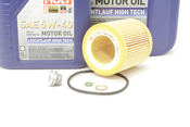 BMW 5W40 Oil Change Kit - Liqui Moly 11427854445KT2