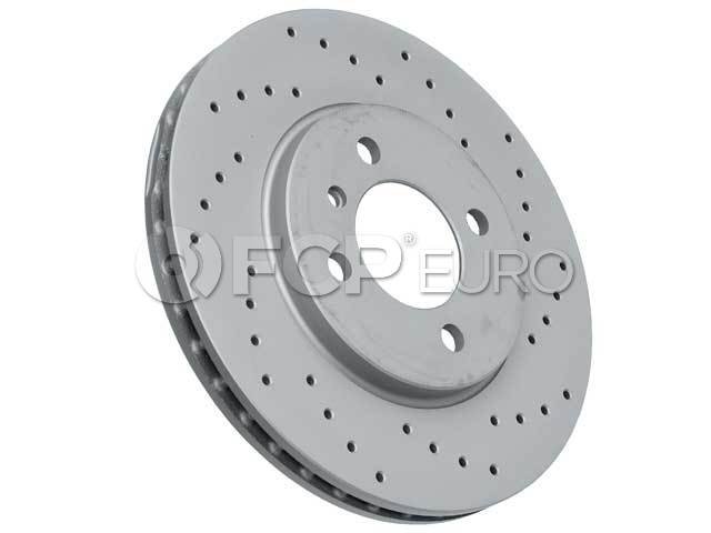 BMW Brake Disc (Cross-Drilled) - Zimmermann 34111160915