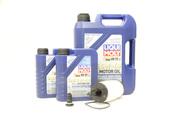 Mercedes Oil Change Kit 5W-40 - Liqui Moly 2761800009.7L.W222