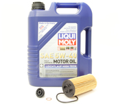BMW 5W40 Oil Change Kit - Liqui Moly 11428570590KT2
