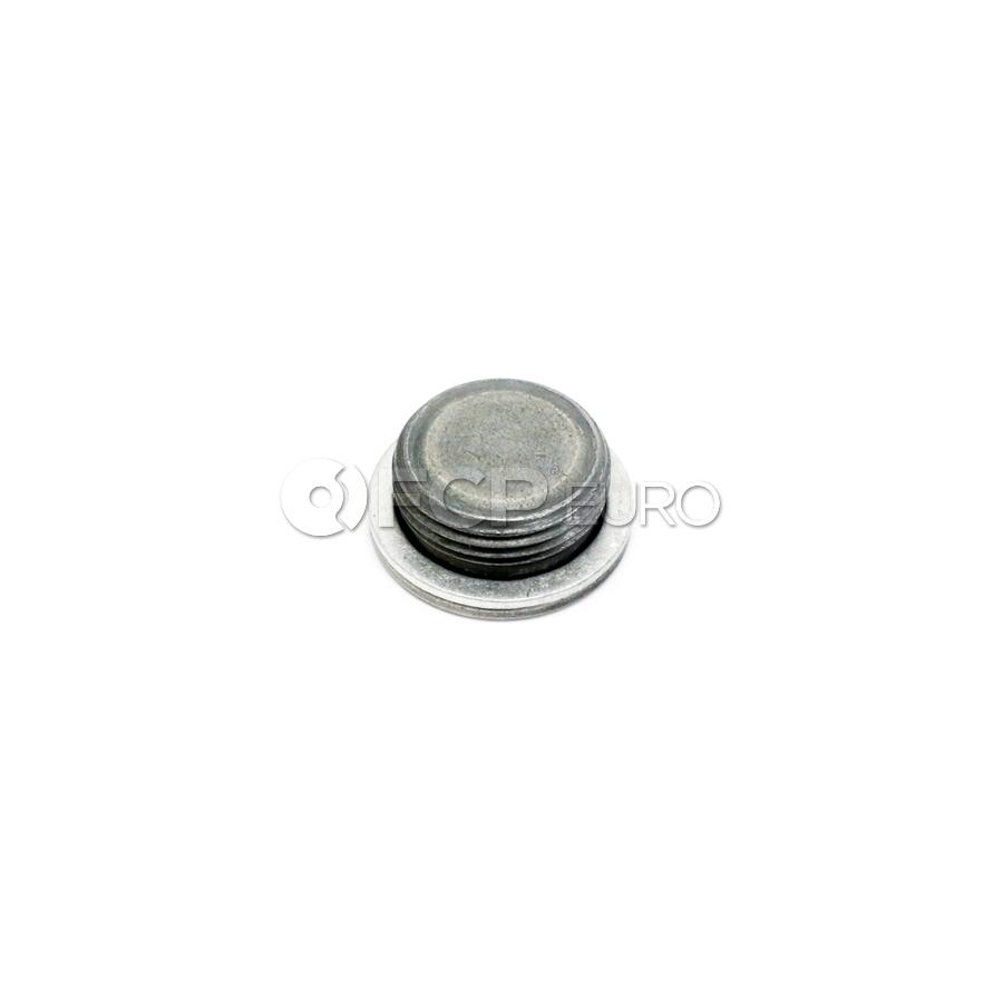 BMW Engine Block Plug With Gasket Ring - Genuine BMW 11117558632