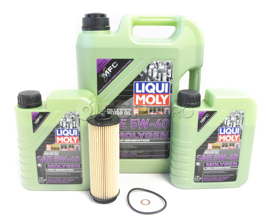 BMW Oil Change Kit 5W-40 - Liqui Moly Molygen 11428583898.LM1