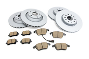 Audi VW Brake Kit - Zimmermann/Akebono 8J0615601AKT4