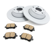 Audi Brake Kit - Zimmermann/Akebono 8J0615601KT