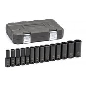 "14 Pc. 1/2"" Drive 6 Point Deep Impact Metric Socket Set - Gearwrench 84955N"