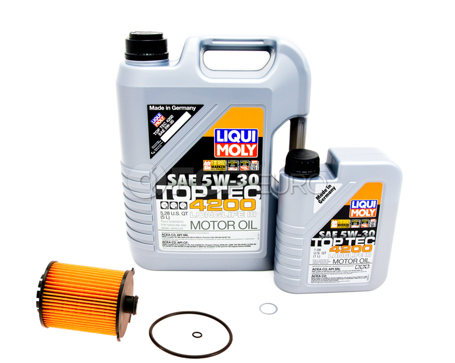 Volvo 5W30 Engine Oil Change Kit - Liqui Moly SPAOCKT