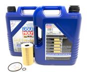 Porsche Engine Oil Change Kit (5W-40) - Liqui Moly/Mahle 538471KT