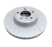 BMW Brake Disc Dimpled and Slotted - Zimmermann 34106797602