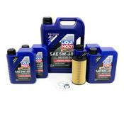 Audi Oil Change Kit 5W-40 - Liqui Moly 079198405AKT