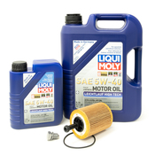 VW Audi Oil Change Kit 5W-40 - Liqui Moly KIT-071115562C.6L